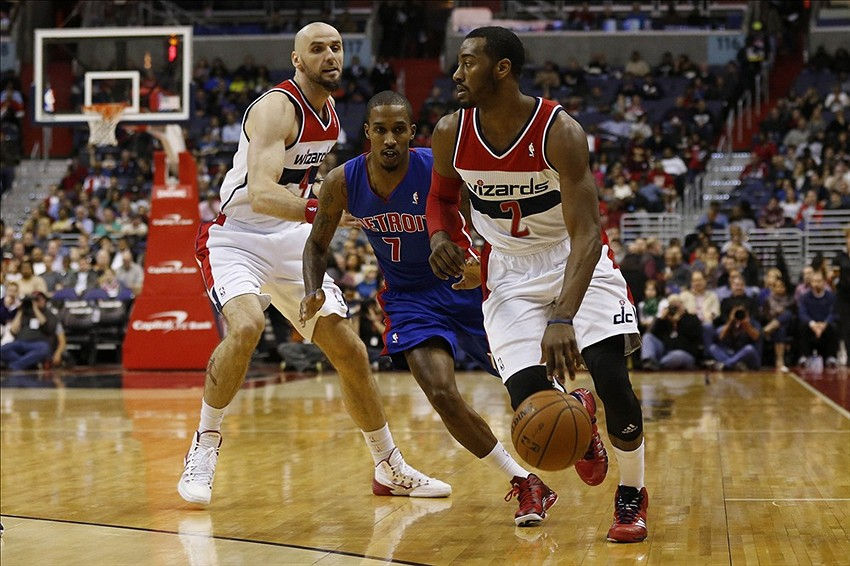 b24083b45394 Recap  John Wall and the Wizards dominate the Pistons at home