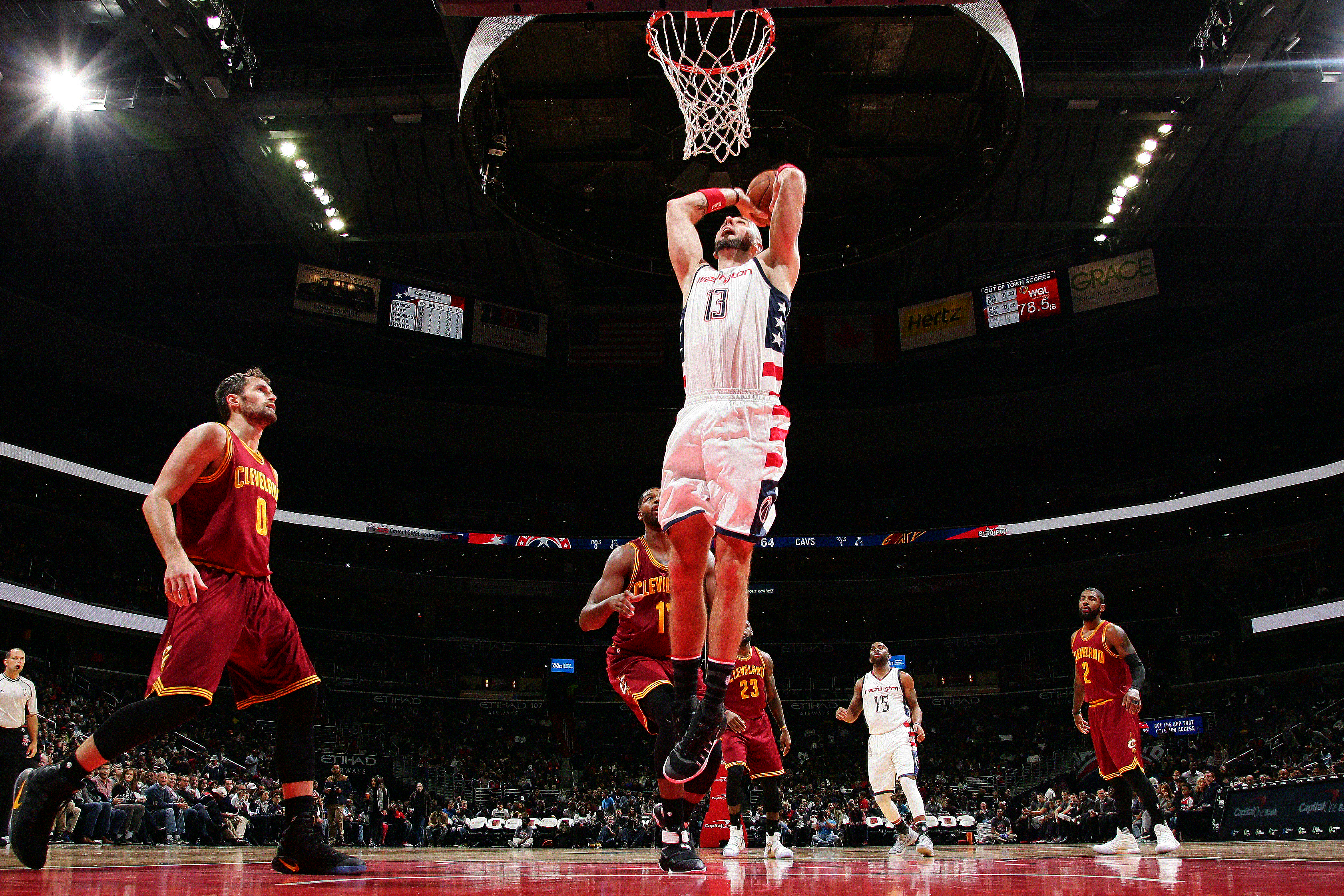washington wizards marcin gortat is a constant and marches on
