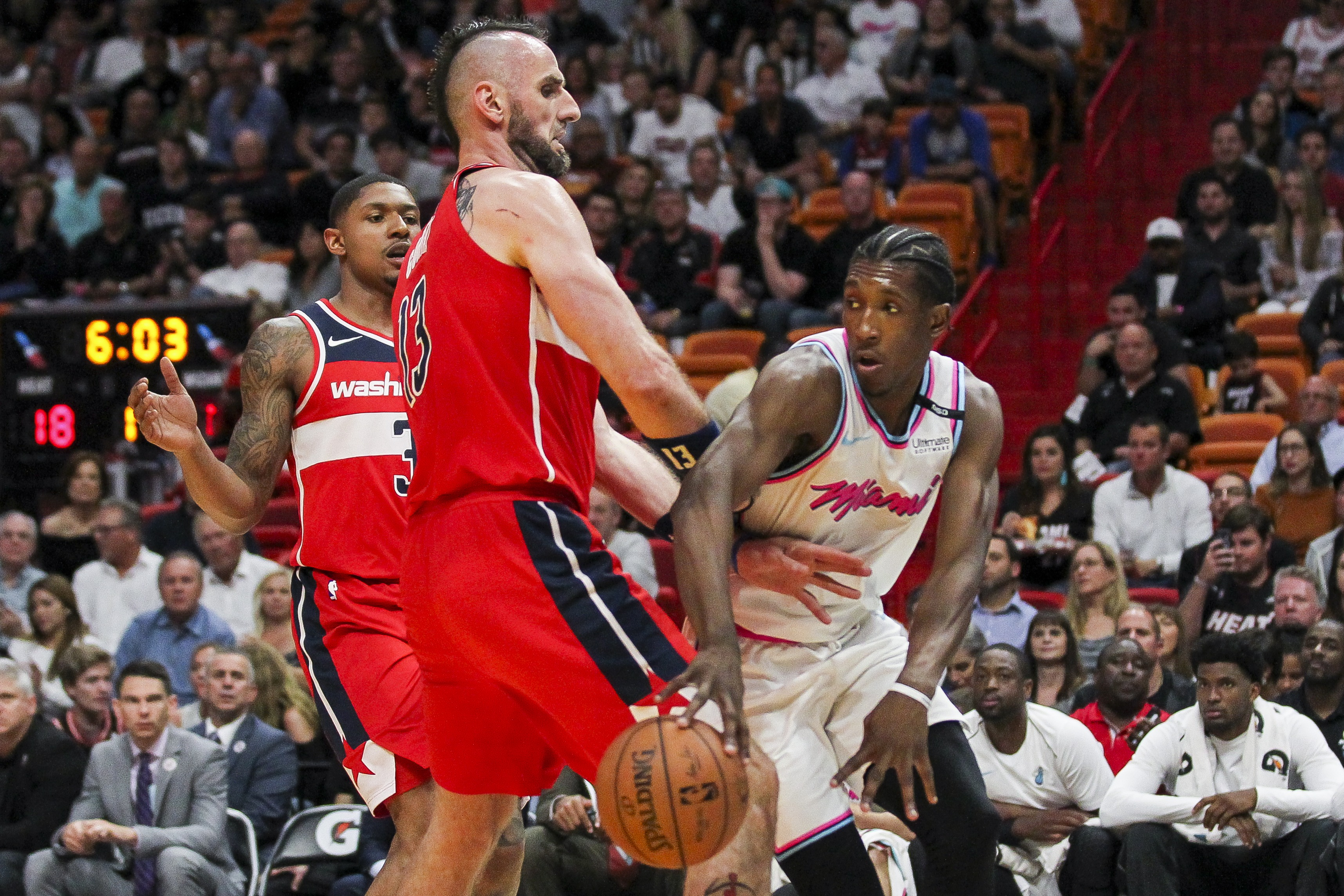 Heat red-hot in National Basketball Association against Wizards